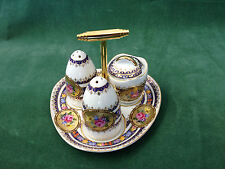 Crown Porcelain Vienna Cruet Set