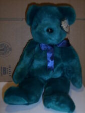 RETIRED TY BEANIE BUDDY TEAL OLD FACE TEDDY  MINT WITH TAG
