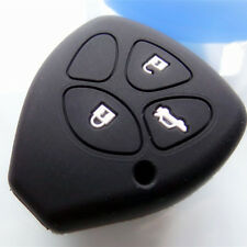 3 Button Key Soft silicone cover For Toyota Hilux Yaris Rav 4 Aurion Camry Black
