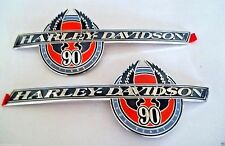 Harley-Davidson 90th Anniversary Fuel Tank Badges Nos