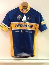 Jakroo Trojans Blue Full Zip Men's Cycling Jersey S Small New