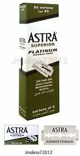 Astra Superior Platinum Double Edge Shaving Razor Blades 100 pcs-Barber Favored