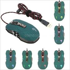 3200DPI Optical 9D Button Vibration Wired Gaming Mouse Mice Programmable PC LUOM