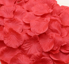 100pcs RED Simulation Rose Petals Flowers For Wedding Party Decoration