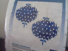 "Saphires & Snowdrops Ornament Sequined Beaded Kit 4"" x 4.5"" Blue"