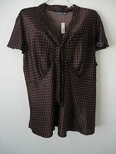 Apt.9 Women's Plus Size 3X Top Blouse Shirt V-Neck Empire Waist Short Sleeve