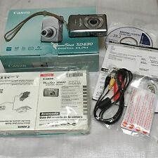 AS IS Canon PowerShot Digital ELPH SD630 6.0 MP Camera Silver IN ORIG BOX+Extras