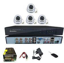 8 ch dvr + 4pc. 850 TVL 20 mtr. IR Cut  CCTV Camera + all req. connectors