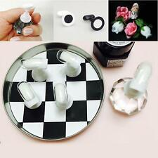 10 Pcs Chess Board Magnetic Nail Tip Crystal Stand Set Salon Display Holder