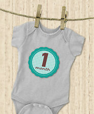 'MuchMore' Monthly Baby Stickers for Boy Milestone's Stickers Great Shower Gift