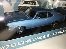 GMP 1/18 PEACHSTATE BLUE 1970 CHEVY COPO NOVA SS NEW BOX 1 Of ONLY 3500