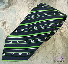 SEATTLE SEAHAWKS 12TH MAN NECK TIE - BLUE AND GREEN
