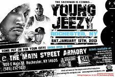 """YOUNG JEEZY """"THE SNOWMAN IS COMING"""" 2013 ROCHESTER CONCERT TOUR POSTER - Hip Hop"""
