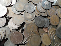 6 copper Pennies coins From 1895-1967 6 coins in this bulk lot very old