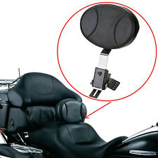 Adjustable Plug In Driver Rider Backrest Kit For Harley Touring FLTR FLHT FLHR