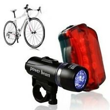 Waterproof LED Bicycle Front Head Light + Rear Safety Flashlight Lamp for Bike
