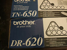 2 pack brother 1 tn 650 1 dr 620 genuine oem tn650 open box new dr620
