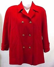 Mackintosh Women's Red Jacket Peacoat 12, Wool Coat, Double Breasted Made in USA