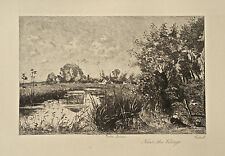 Jean-Baptiste Corot Etching Near the Village
