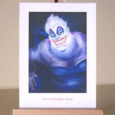 Little Mermaid villain WDCC Ursula drawing in oil painting style ACEO art card