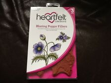 Heartfelt Creations Blazing Poppy Fillers Cling Stamp Set