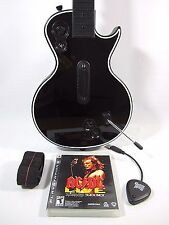PS2 PS3 PS4 Rock Band Guitar Hero Controller Gibson Les Paul w/ Dongle TESTED!