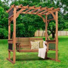 Backyard Discovery Deluxe Cedar Pergola Swing