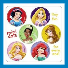 96 Disney Princess Dot Stickers (16 Sheets) Ariel Aurora Belle Snow White Tiana