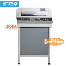 """18"""" Guillotine Cutting Machine Office Electric Stack Paper Cutter Heavy Duty"""