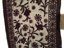 VALENTINE Burnt Velvet Italiana Brand Brown Floral Sheer Silk Blend Scarf