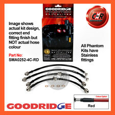 Mazda RX7 92-02 Goodridge Stainless Red Brake Hoses SMA0252-4C-RD