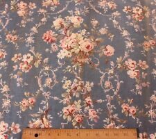 """Beautiful Antique 19thC French Chateau Curtain Panel~Roses&Ribbons~3yds14""""LX30""""W"""