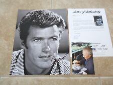 Clint Eastwood Sexy Young Promo Signed Autograph 11x14 Promo Photo PSA Certified