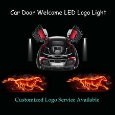 2x Flaming Horse Logo Car Door Laser Projector Shadow LED Light for Ford Mustang