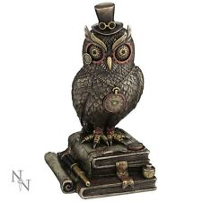NEMESIS NOW *TIME WISE* STEAMPUNK OWL FIGURE/ORNAMENT BRAND NEW & BOXED GOTHIC
