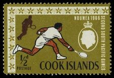 """COOK ISLANDS 175 (SG199) - South Pacific Games """"Tennis"""" (pf45280)"""