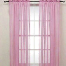 2PCS Transparent Tulle Voile Door Window Curtain Drape Panel Sheer Scarf Valance
