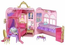 Barbie Princess Charm School Royal Bed and Bath Playset- folding