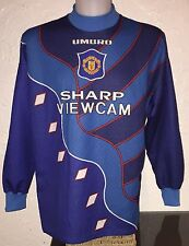 Manchester United 95-96 Away Goalkeeper Football Shirt Sharp Rare Vintage Umbro.