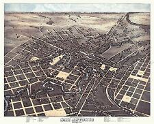 MAP ANTIQUE 1873 KOCH SAN ANTONIO TEXAS AERIAL VIEW REPLICA POSTER PRINT PAM1926