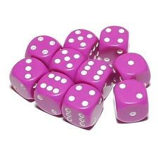 10 Purple Dice, (six sided), 16mm , D6