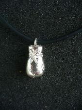 Collana Guantone da boxe - girocollo in caucciù e argento 925 millesimi