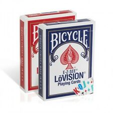 2 Decks Bicycle Lo Vision Easy to See Playing Cards Lovision E-Z Large Index Low