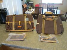 NEW Pair of CLAVA TOTE & Pocket DUFFEL BAG CANVAS 77-1005 & 1007 CAFE