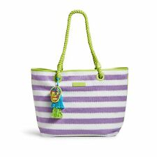Vera Bradley Striped Tote in Lilac Stripe
