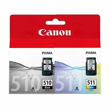 Genuine Canon PG 510 Black & CL511 Colour Original Ink Cartridge Combo Multi Set