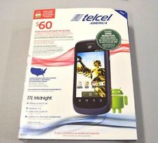 LOT OF 15 BRAND NEW SEALED ZTE Midnight Android Prepaid Mobile Telcel America