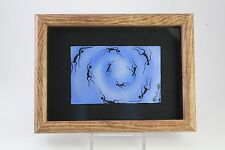 Vtg David Dunn Aboriginal Art Spirits of the Whirlpool Blue Print Glass Framed