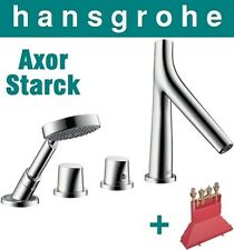 Hansgrohe Axor Starck Organic 12425000 4-Hole Thermostatic Bath Mixer +Basic Set