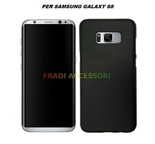 Cover custodia samsung galaxy S8 TPU ultra slim silicone nera morbida 0,3mm